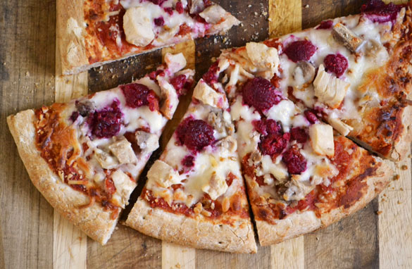 Chicken and Raspberry Pizza