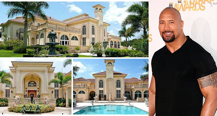 Dwayne Johnson villa in Los Angeles