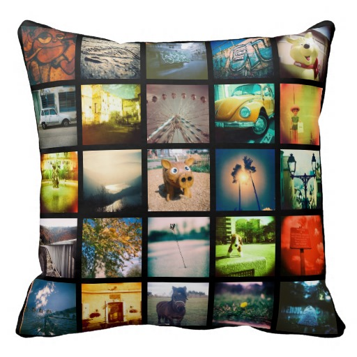 Create your own a unique and original instagram throw pillows