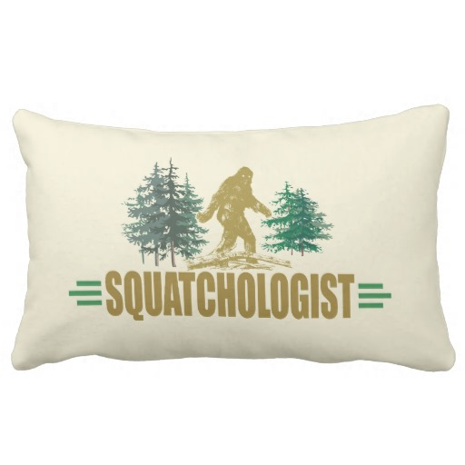 Funny Sasquatch, Bigfoot Pillow throw pillows