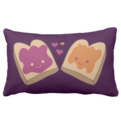 Kawaii PB&J American Mojo Throw Pillow