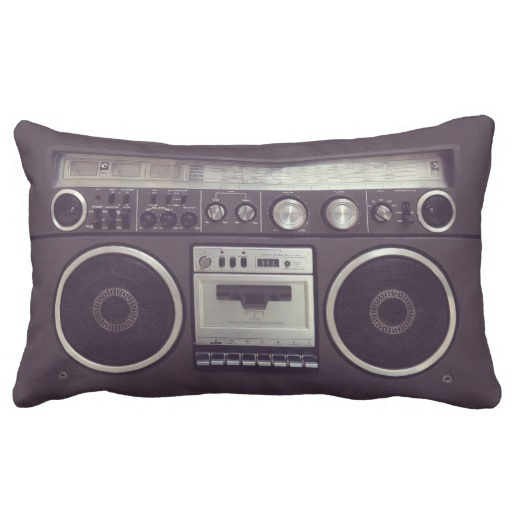 Retro Boombox Cassette Player Funny pillow throw pillows