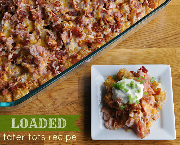 Fully Loaded Tater Tots Casserole