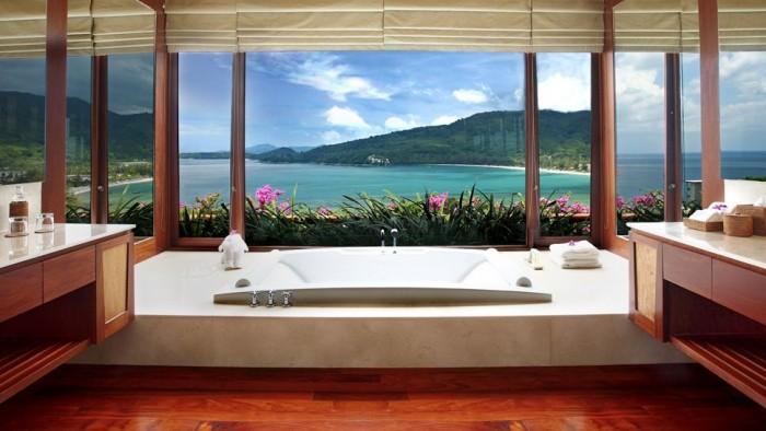 the most beautiful hotel bathtub views – wow amazing