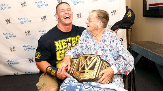 John Cena with old woman