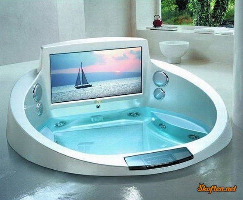 Built-in Bathtub Television