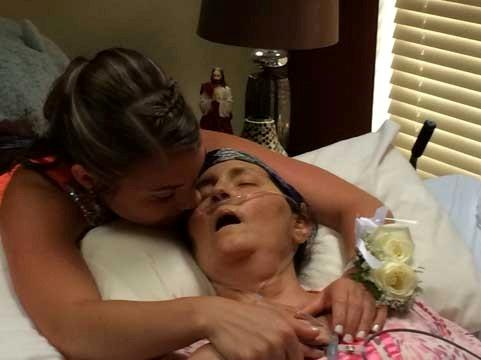 Megan Sugg with her dying mother
