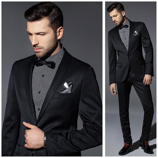 Black formal look