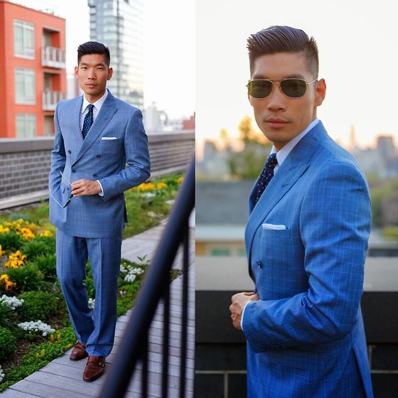 Blue formal look