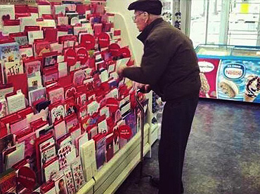 Still giving a valentine card for deceased wife