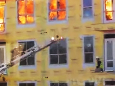 Construction Worker Rescued by Fire Team