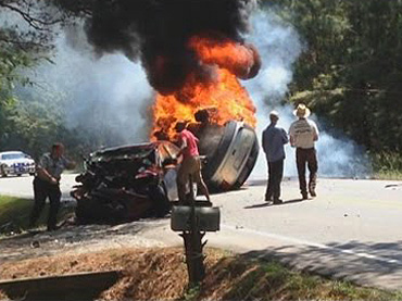 Real Captain America Rescue Couple from a Burning Car