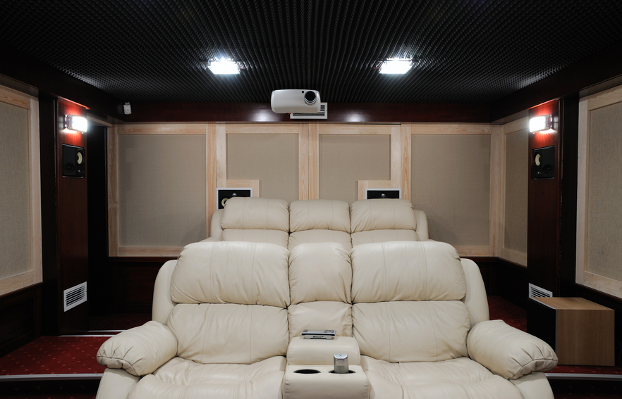 12. Stadium Seating Home Theater Room