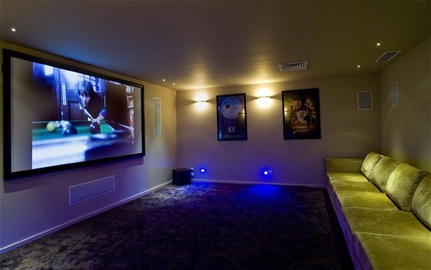 Cozy Yet Elegant Cinema Room