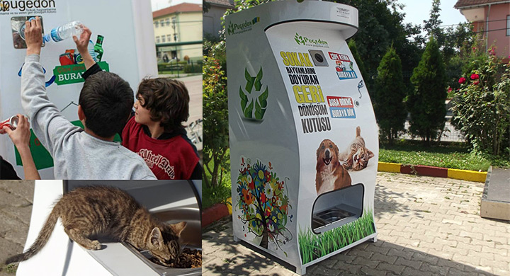 Vending machine for pets