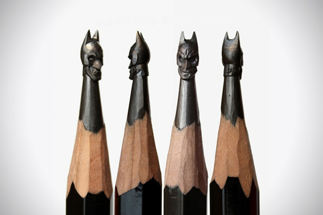 Batman Pencil Sculpture