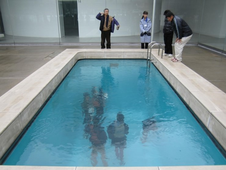 The fake swimming pool