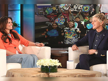 Teacher's Act make ellen degeneres in tears