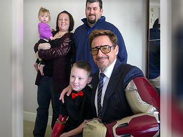 Given an iron bionic arm to a kiddie fan