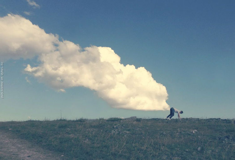 Man with Clouds