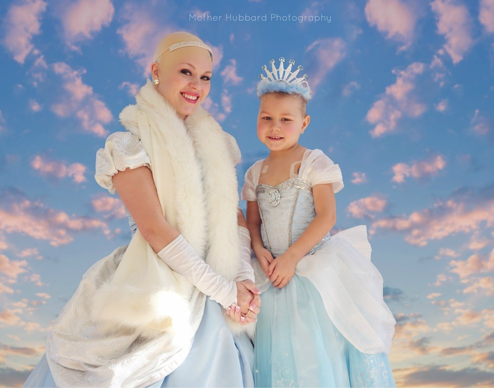 Princess Isabella Harvey with bald cinderella