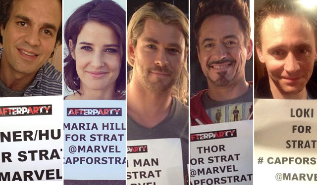 The Avengers Cast and Stratford Caldecott