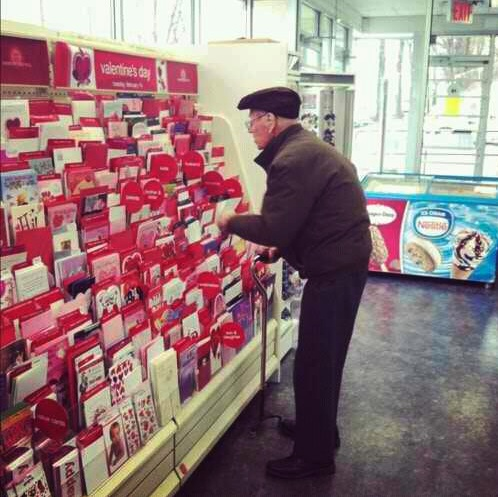 Buying Valentines Card