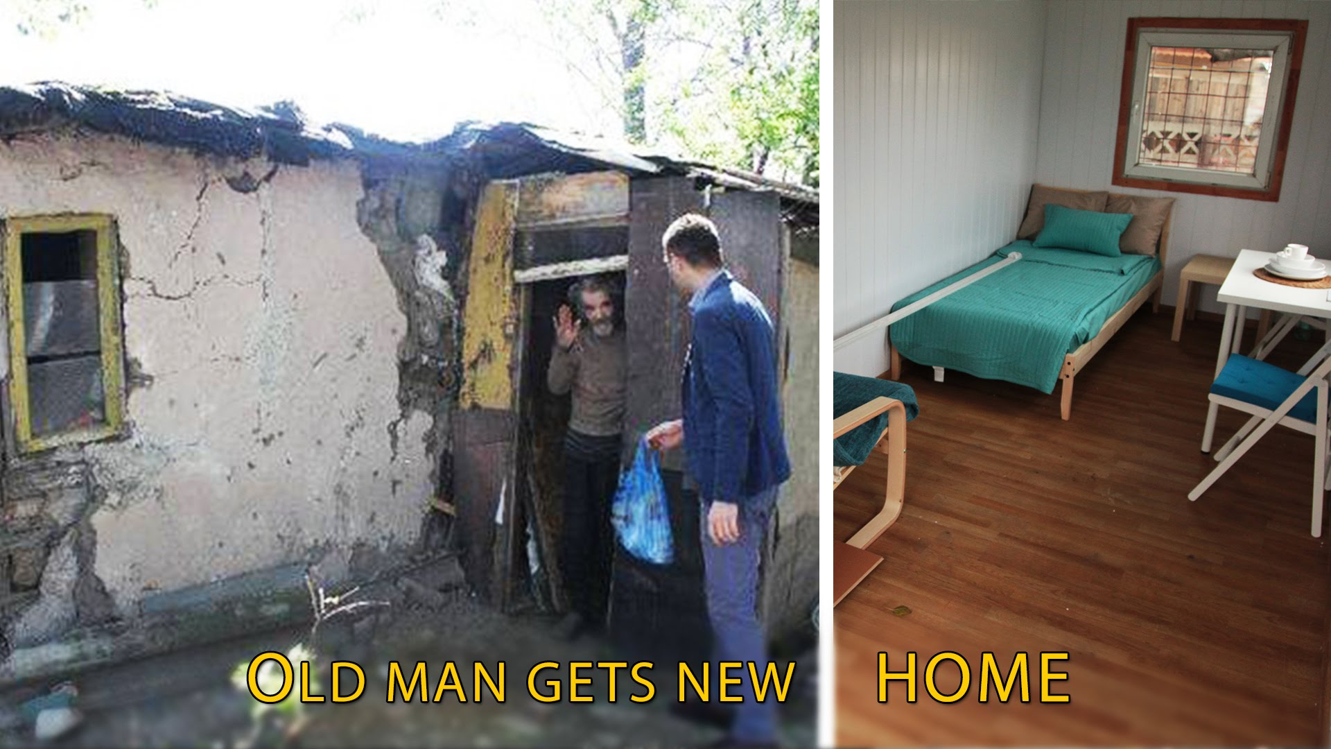 Poor Man in Romania Gets a New House
