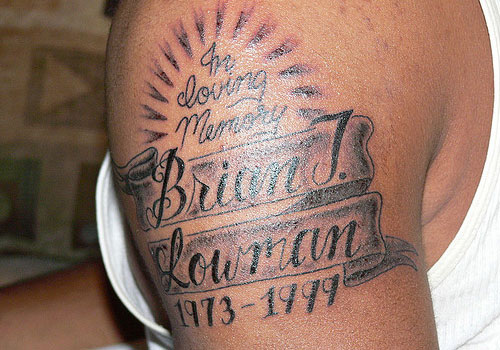 Memorial Tattoos For Brother: Tattoos Are Dedicated In Loving Memory To Our Lost Loved