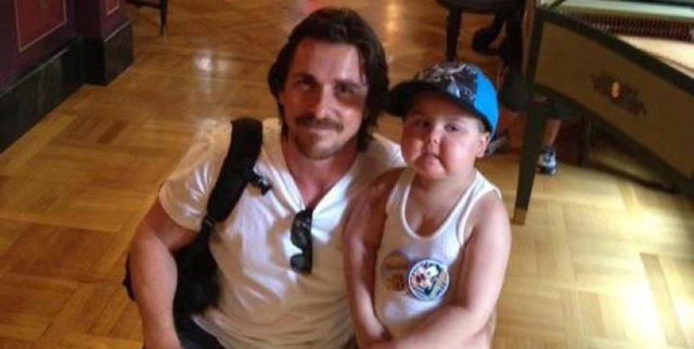 Christian Bale and Jayden Barber