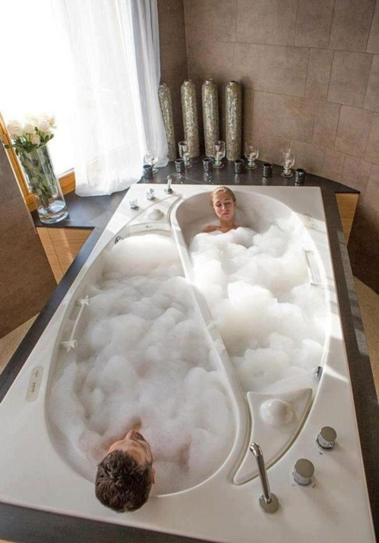 Two bathtub