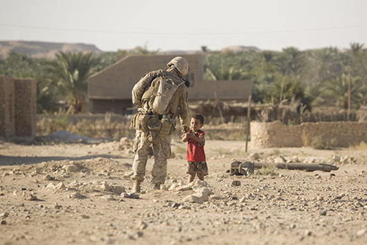 Soldier with a kid