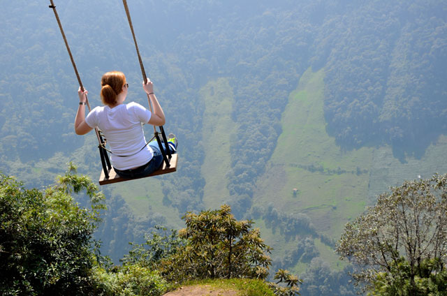 Swing at the Very High Mountain