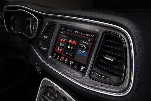 2015 Dodge Challenger Control menu with heated/ventilated seat control