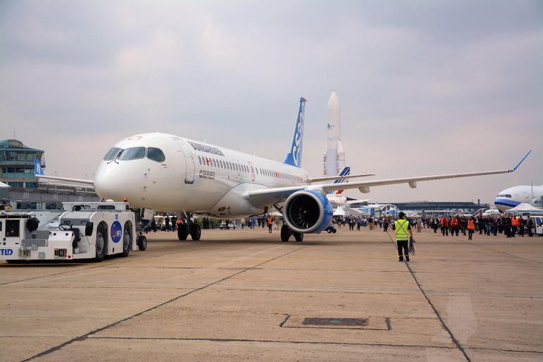 Canadian plane-maker Bombardier launched its C-Series passenger jets at the 2015 Paris International Air Show