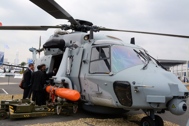 A NH90 Caiman ready for marine operations