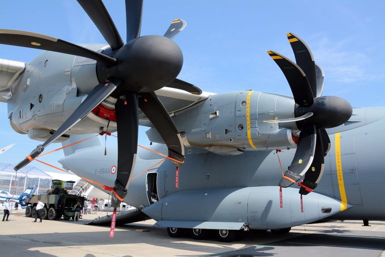The A400M has a four TP400-D6 powerplant, with each engine rated at 11,000 shp