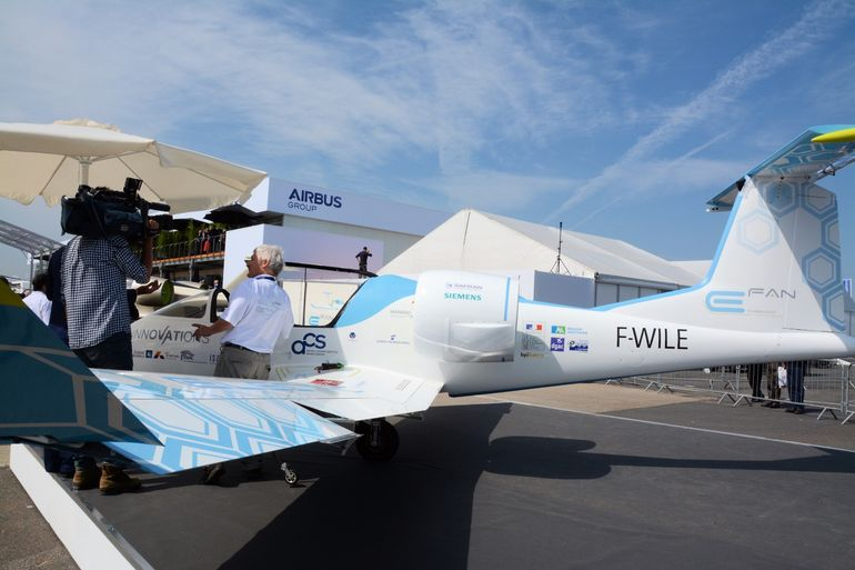 The E-Fan electric airplane was at Le Bourget again this year, 2 years after making its first public flight