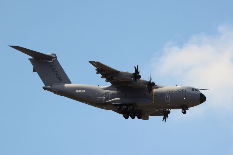 Airbus says that the A400M is the only airlifter capable of delivering large helicopters, heavy armored vehicles, excavators or logistic trucks onto an unpaved airstrip or in the theater of operations
