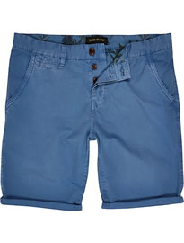 River Island Blue Chino Shorts