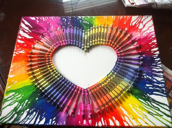 Do it yourself melted crayon wall art wow amazing you will need solutioingenieria Image collections