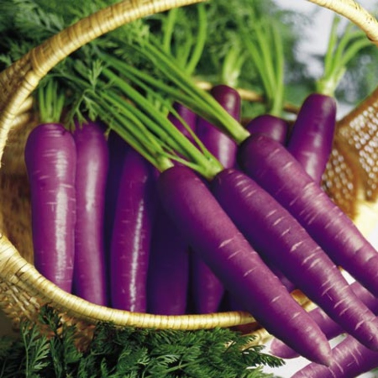 7. Purple Carrots (Grown in Britain and Central Asia)
