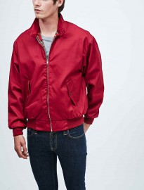 Urban Renewal Vintage Surplus Harrington Jacket In Burgundy