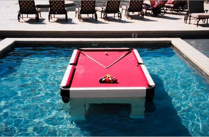 A Waterproof Pool Table The Ultimate Summertime Game Wow Amazing