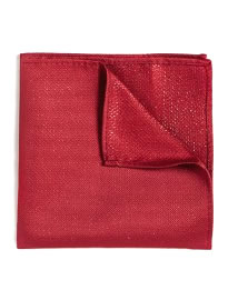Topman Red Lurex Pocket Square