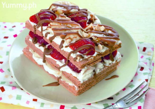 Banana Split Icebox Cake by yummy.ph