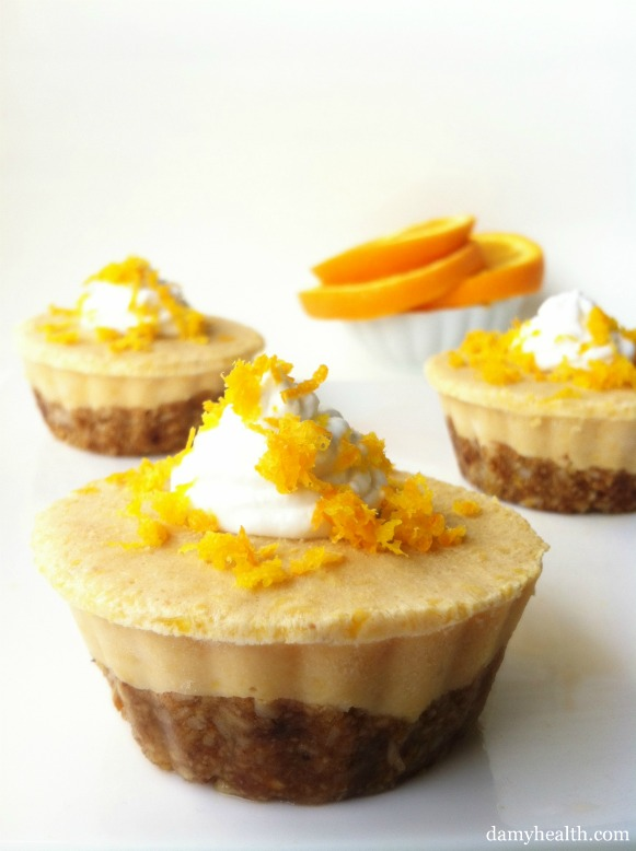 No Bake Creamsicle Tart