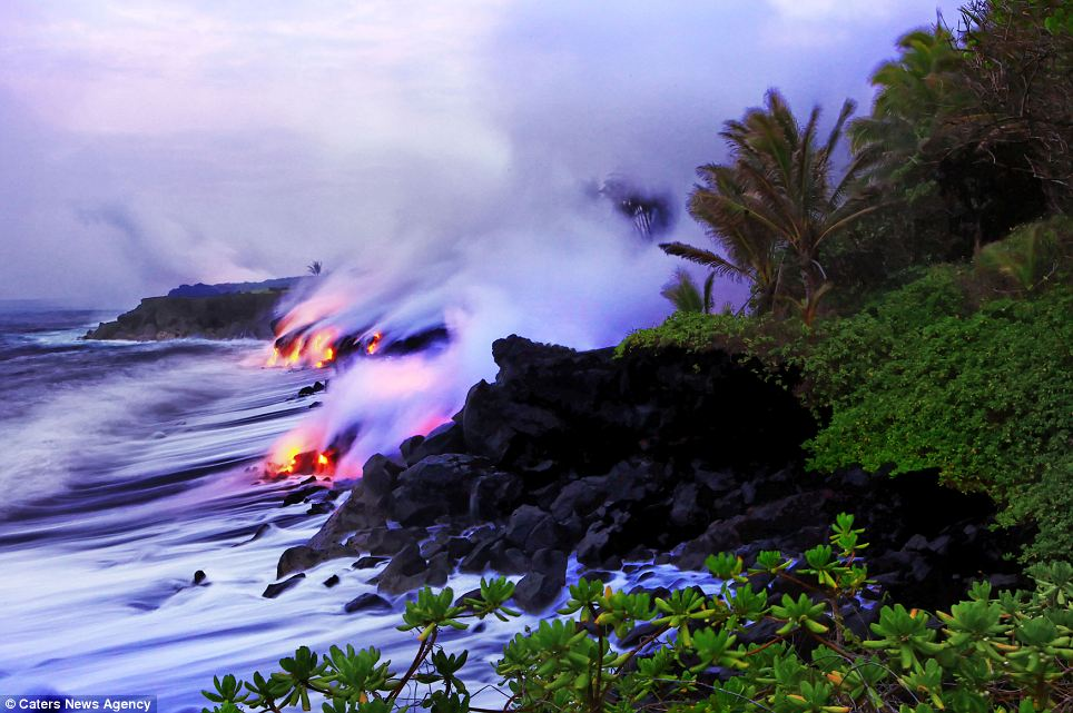 Beauty: Hawaii is an collection of volcanic islands located over a geological 'hot spot' in the Central Pacific