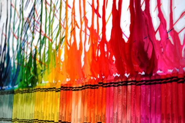 Do it yourself melted crayon wall art wow amazing solutioingenieria Image collections