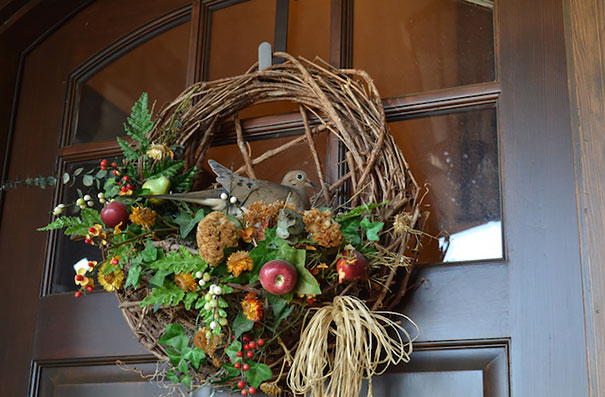 Dove Nest On A Wreath